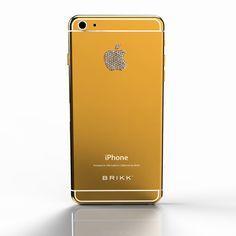 Lux iPhone 6 Plus Yellow Gold Diamond Logo // Verizon or Sprint (White)