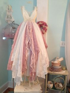 Woodland Wedding Dress Bella Rose Fairytale by ForeverFunCouture