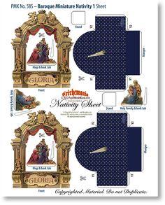 Baroque Miniature Nativity 1 & 2 Collection Combo - PaperModelKiosk.com