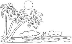 Imgs For > Beautiful Drawings Of Nature For Kids