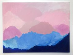 'Pastel Pink Skies' original acrylic abstract painting Pink Sky, Pastel Pink, Summer Sunset, Floating Frame, Frame It, Original Artwork, Artworks, Art Pieces, Canvas