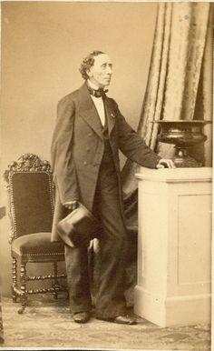 Danish writer H. C. Andersen (Hans Christian Andersen). Late spring or summer 1862.