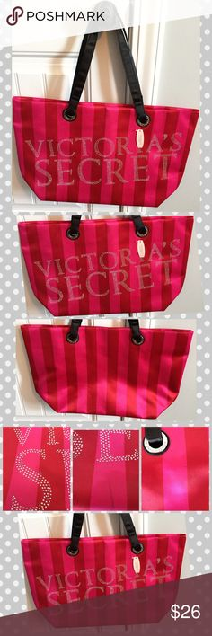 "Victoria's Secret Tote Victoria's Secret Tote, this is NWT but there are some noticeable spots..see 4th pic. Measures approximately 21"" wide and 12.5"" tall. Handles measure approximately 10"". See pics for more details. Victoria's Secret Bags Totes"