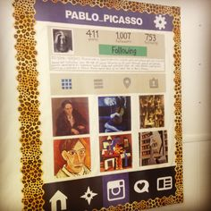 An Instagram bulletin board featuring Spanish and Hispanic artists