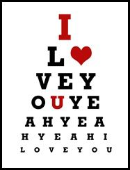 The CrafterS Workshop   X  Doodling Template  Eye Chart