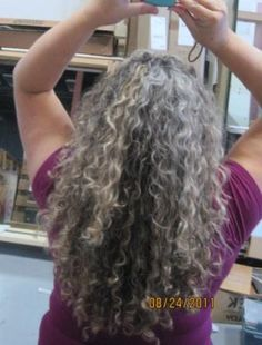 Curly gray - I hope my hair will look like this when I let it go back to natural color.
