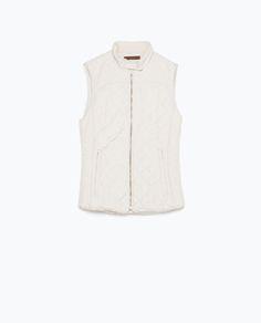 Image 8 of COMBINED KNIT PADDED WAISTCOAT from Zara
