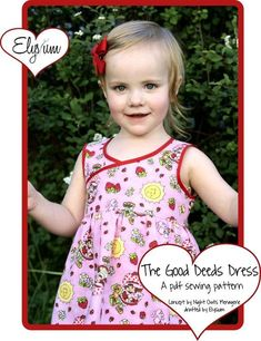 The Good Deeds Dress. Found this cute little dress pattern FREE on Craftsy!