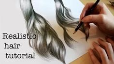 Realistic Drawing Tips I wanted to do a bit of a different video this week - a lot of people have been asking me how I draw hair, so this is a short video briefly explaining how I . Drawing Skills, Drawing Techniques, Drawing Tips, Drawing Ideas, Flower Drawing Tutorials, Art Tutorials, Drawing Flowers, Drawing Hair Tutorial, Flower Drawings