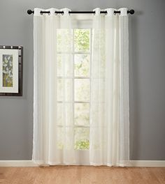 Katherine Textured Linen Curtain Panel Pair (Ivory) Home Fashions http://www.amazon.com/dp/B00OS5P5IU/ref=cm_sw_r_pi_dp_a69jwb0FEFJ99
