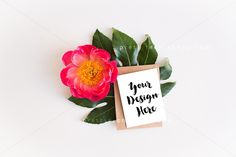 Flora Greeting Card Mockup - Product Mockups. Flower styled stock photography, modern stock photography, modern mockup, minimal mockup, boho mockup, boho stock photo, blogger photos, stationary mockup, stationary, greeting card, diy greeting card
