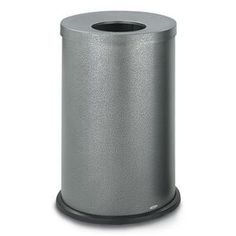 35 Gallon Receptacle with Black Speckle Finish and Open Flat Top   Trash Receptacles   Upbeat.com