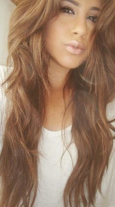 hair color, long hair, light brown, highlights. I like this
