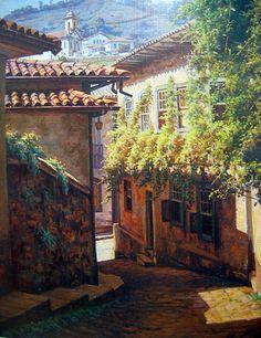 ouro preto pinturas   EDGAR WALTER - Ouro Preto