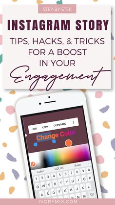 Step by step story tips hacks and tricks for a boost in your engagement // Ivory Mix Instagram Feed, Tips Instagram, Instagram Marketing Tips, Instagram Story, Instagram Design, Facebook Instagram, Digital Marketing Strategy, Content Marketing, Affiliate Marketing