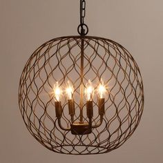 WorldMarket.com: Dark Bronze Globe Farmhouse Chandelier
