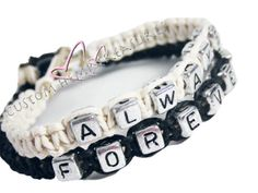 Always Forever Bracelets Couples Bracelets by customhemptreasures