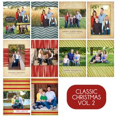 Classic Christmas Vol. 2 - 2011 Holiday Photo Card Templates for Photographers - $25