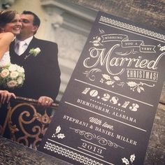 Free Chalkboard Just Married Banner Printable | The Elli Blog
