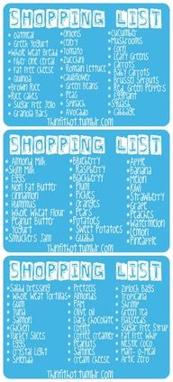 Healthy Food Shopping List