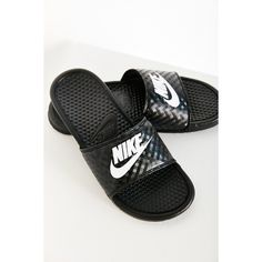 ecf46648ab2 Nike Benassi JDI Slide Sandal ( 25) ❤ liked on Polyvore featuring shoes