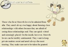 Pokemon Personalities - Meowth - #052/719. That's fairly accurate...Meowth and Persian were always my favorites