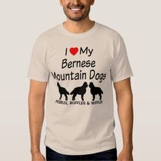 (I Love My THREE Bernese Mountain Dogs T Shirt) #Bernese #Dog #Dogs #Heart #Love #LoveMy #Loves #Mountain #Silhouette #Three is available on Funny T-shirts Clothing Store   http://ift.tt/2dZpybv