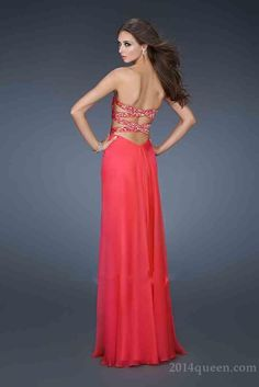 Elegant Long A-Line Sleeveless Natural Prom Dresses In Stock Queen11640