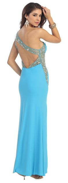 BG1812 Aqua Marine, Ball Gowns, Backless, Elegant, Formal Dresses, Blue, Beautiful, Fashion, Ballroom Gowns