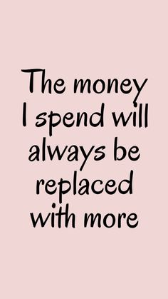 Positive Affirmations Quotes, Wealth Affirmations, Words Of Affirmation, Law Of Attraction Affirmations, Positive Quotes, Manifesting Money, Money Quotes, Motivation, Positive Vibes