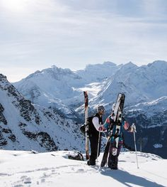 In the days before lifts, skiers would have to traverse up a hill before being able to ski back down. Today, ski touring, as it is commonly known, is largely done by adventurous athletes. #skiing