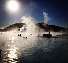 The sun is bigger in Iceland. Discovered by Tanya Williams at Blue Lagoon, Iceland