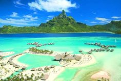 There's my little beach shack in Bora Bora...that one, right there.