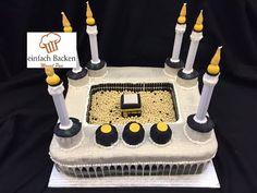 3D Moschee Mekka Torte/ mosque Cake - von einfachBacken Schweiz - YouTube Ramadan Decoration, Eid Decorations, Eid Moubarak, Cupcake Recipes, Dessert Recipes, Ramadan Sweets, Eid Cake, Ramadan Celebration, Religious Cakes