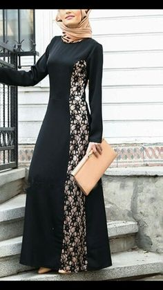 28 Ideas dress brokat panjang for 2019 İslami Erkek Modası 2020 Batik Fashion, Abaya Fashion, Modest Fashion, Fashion Dresses, Abaya Designs, Blouse Designs, Abaya Mode, Moslem Fashion, Dress Brokat
