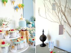 lots of ice cream for this ice-cream themed baby shower and a message tree
