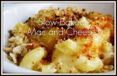 Slow cooker Mac & Cheese. OMG. I gotta try this. Now if only SkinnyTaste would redo it as a more healthy recipe. Sounds so good.