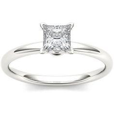 Imperial 1 Carat T.W. Diamond Princess-Cut Solitaire 14kt White Gold Engagement Ring - Walmart.com
