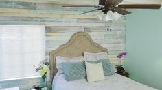 Want to make a whitewashed wood pallet accent wall for under $30? I have a tutorial that will give your room a totally new look!
