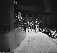 The Beatles performing on stage at Fairfield Halls, Croydon, April Left to right: George Harrison, John Lennon and Paul McCartney. The Beatles played two shows at the venue that day as. Get premium, high resolution news photos at Getty Images Big Three, The Fab Four, Asian History, British History, Tudor History, Ringo Starr, George Harrison, Paul Mccartney, John Lennon