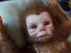 The International Cryptozoology Museum- Baby Bigfoot. Cryptozoology Museum, Living Fossil, Bigfoot, Reborn Babies, Art Dolls, Cute Babies, Weird, Creatures, Animals