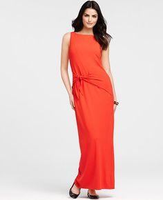 Knit Waist Tie Maxi Dress