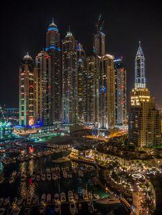 Dubai Marina at night. by Tony Gee on 500px