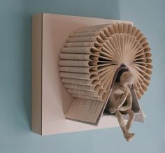 Book Art with Thinking Man