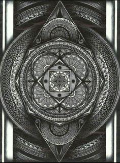 White & Black mandala