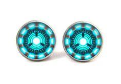 Arc Reactor Earrings Iron Man Earrings Stud by savannahspace