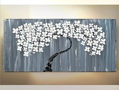 Patience is also a form of action Auguste Rodin Cheers, Katey TITLE: Hope ✿Artwork description- Abstract flower tree painting on canvas ✿Size: 48 x 24 quality Gallery wrap canvas, comes ready to hang. ✿Back wrapped stretched box canvas, black painted edges ✿Medium- acrylic, mixed