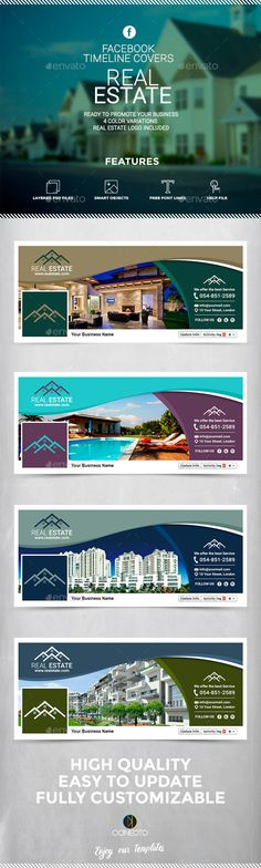 Facebook Timeline Cover Real Estate Template #design Download: http://graphicriver.net/item/facebook-timeline-cover-real-estate/12237090?ref=ksioks