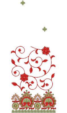 10407 Saree Embroidery Design