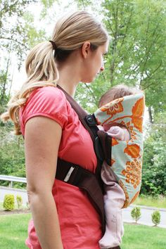 Sew Much Ado: Baby Bjorn Slip Cover Tutorial  @Cari Burke- think you could do this one for me?